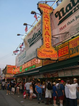 In front of Nathan's, Coney Island, 2007