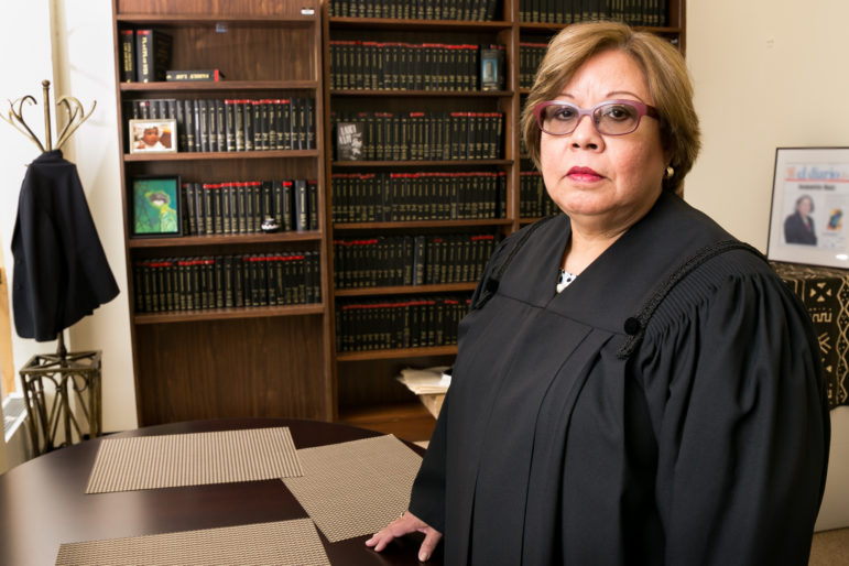 NYC Family Court Administrative Judge Jeanette Ruiz says the addition of nine new judges has reduced the pending caseload per judge from 525 cases in the beginning of 2015 to around 470 cases today.