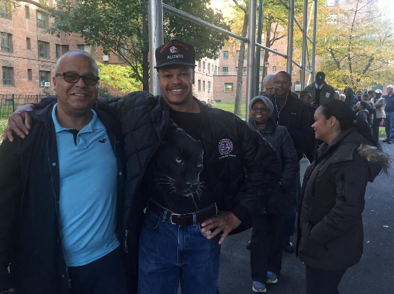 Will Lane, 60, (right) works construction on high rises. His friend, Dennis Ortiz, 59, (left) is a counselor at Montefiore Wellness Center.