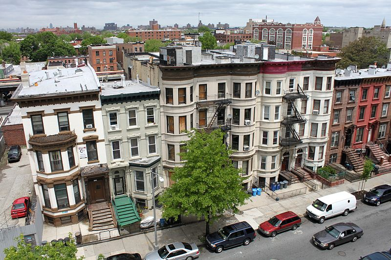 View of Bedford-Stuyvesant from above. Along with Crown Heights and Bushwick, it's where real-estate gurus see room for investment now.