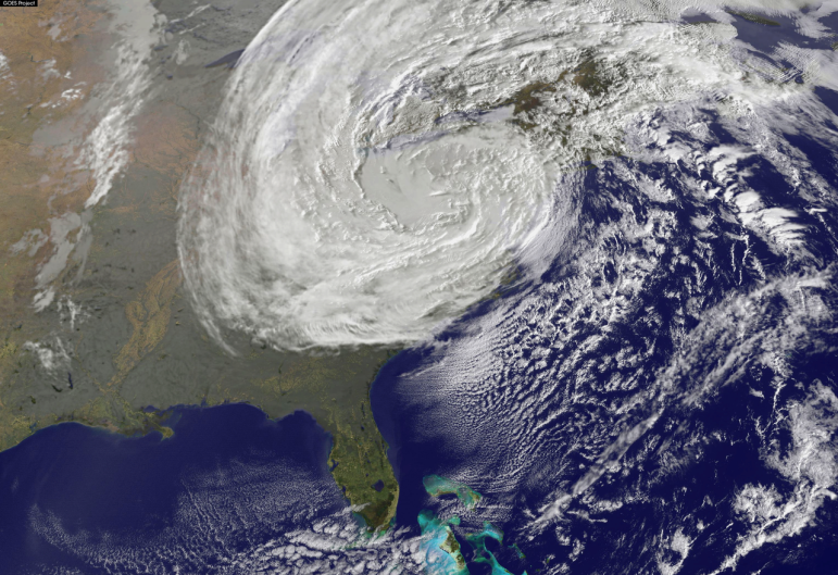 Superstorm Sandy seen from space, October 30, 2012.