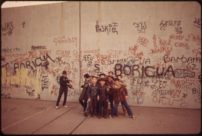 The caption on this 1973 photo at the National Archives reads: 'A sidewalk in the Bronx becomes a playground for these youngsters.' The Bronx was once a hub of culture, but the economic emergency of the 1970s eradicated much of it.