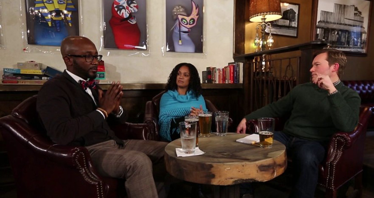 """Lebrun (l.), Perlata and Murphy discuss the ethnic media--and the term """"ethnic media."""""""