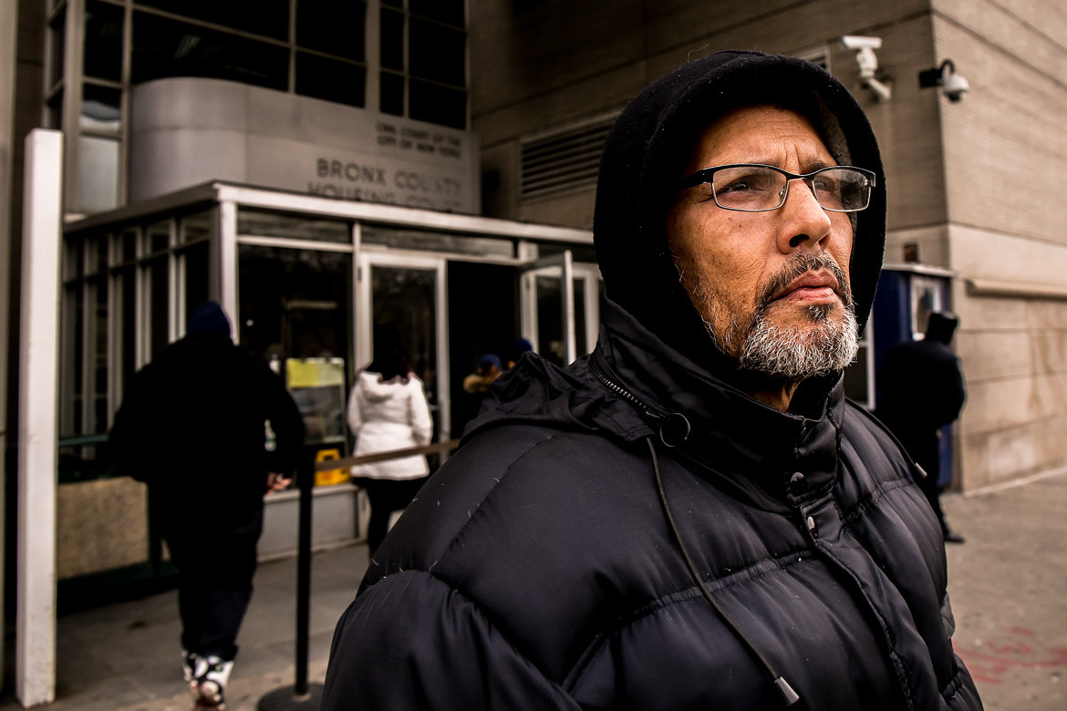 Adonis Burgos, 60, said he was at court on a nonpayment case. While the Bronx features some of the lowest rent in the city, it is also home to a population with the least capacity to pay the rising cost of living in New York.