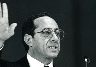 Mario Cuomo in 1987. Prison populations swelled dramatically on his watch, then began to recede under Govs. Pataki, Spitzer, Paterson and Andrew Cuomo.