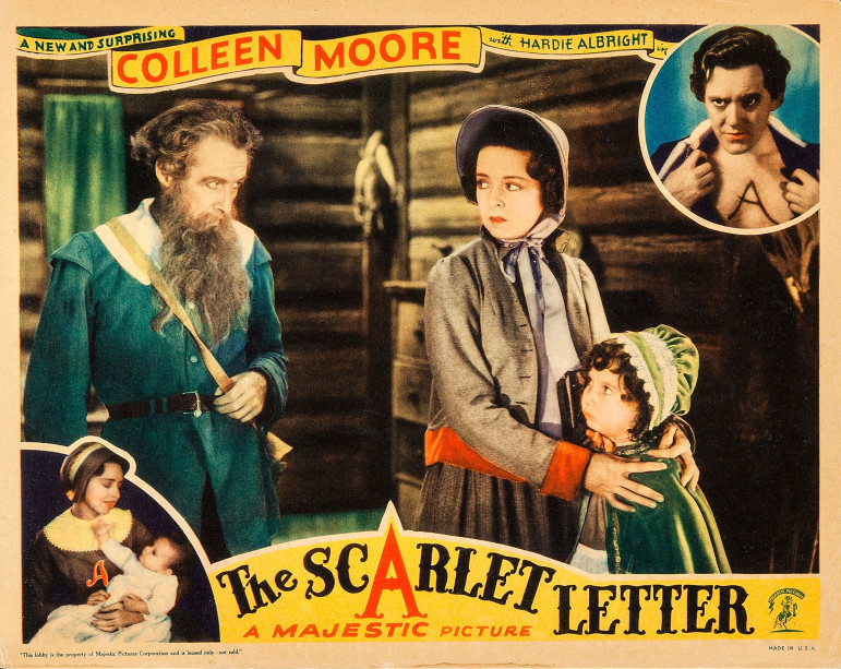 Lobby card for the 1934 film The Scarlet Letter.