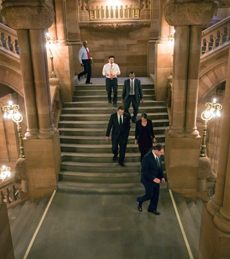 Gov. Cuomo walks the corridors in the State Capitol. It was state leadership that made the first round of Mitchell-Lama a reality and Albany will need to step up if a second wave is to occur.