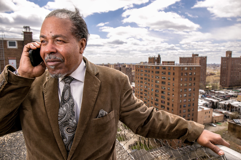 Reggie Bowman, head of the Citywide Council of Presidents of tenant associations. Unlike some of his members, he supported the Bloomberg administration's infill plan, a fact that prevented the TAs from speaking with one voice on the issue.
