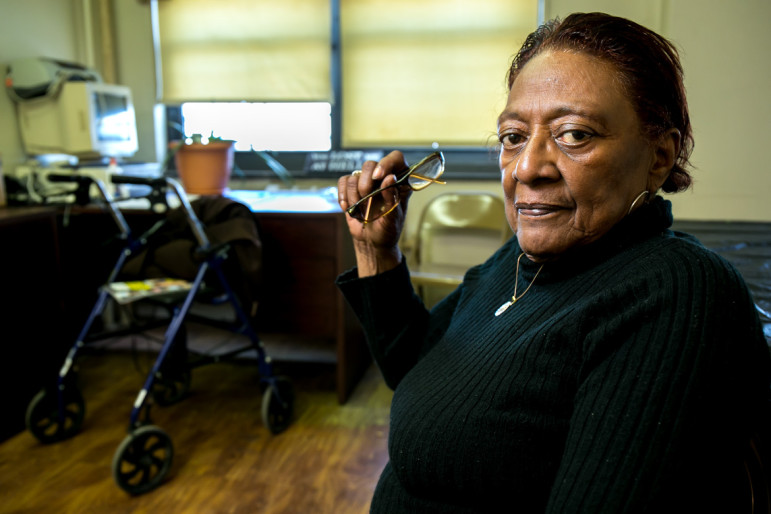 Ada Thomas, the Reid Houses Tenant Association president, struggles to get tenants to show up for TA meetings.