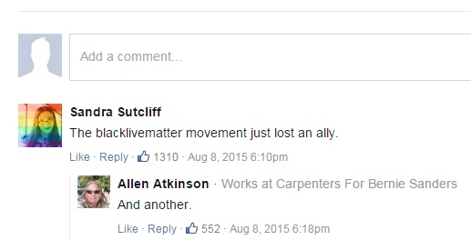 Comments on HuffPo after the episode in Seattle.