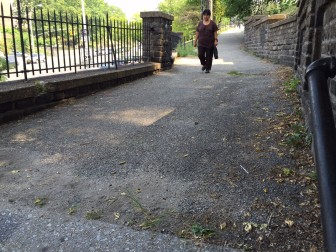 Aqueduct Walk is a small park connecting what some residents say are two very different neighborhoods.