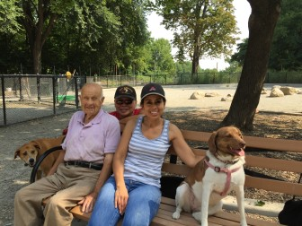 People brings dogs together -- and vice versa -- at Pelham Bay Park.