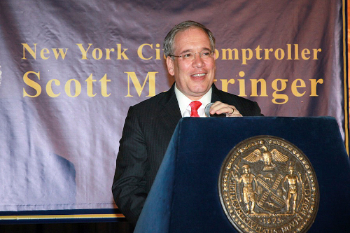 Comptroller Stringer gave his own office a C.