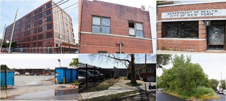 Six of the seven parcels auctioned by the city this week.