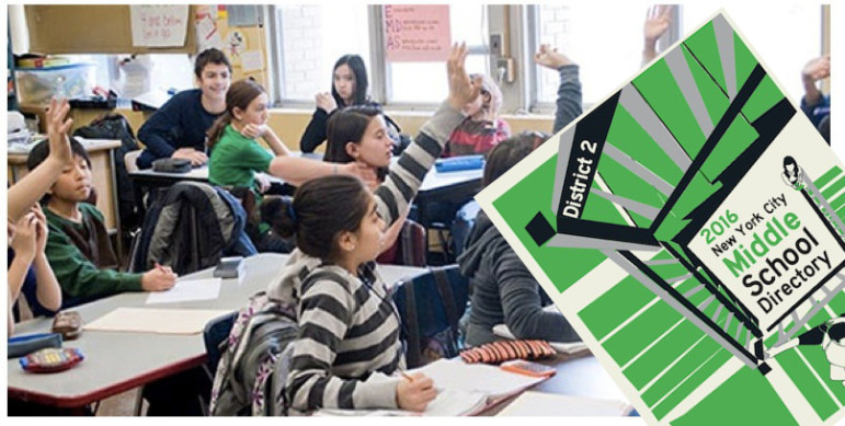 An image from the website of the NYC Lab Middle School. While some of the schools list their application criteria on their website, there is an overall lack of information on how much weight the schools give to each of the criteria, and how they rank the applications they receive, the CEC says.