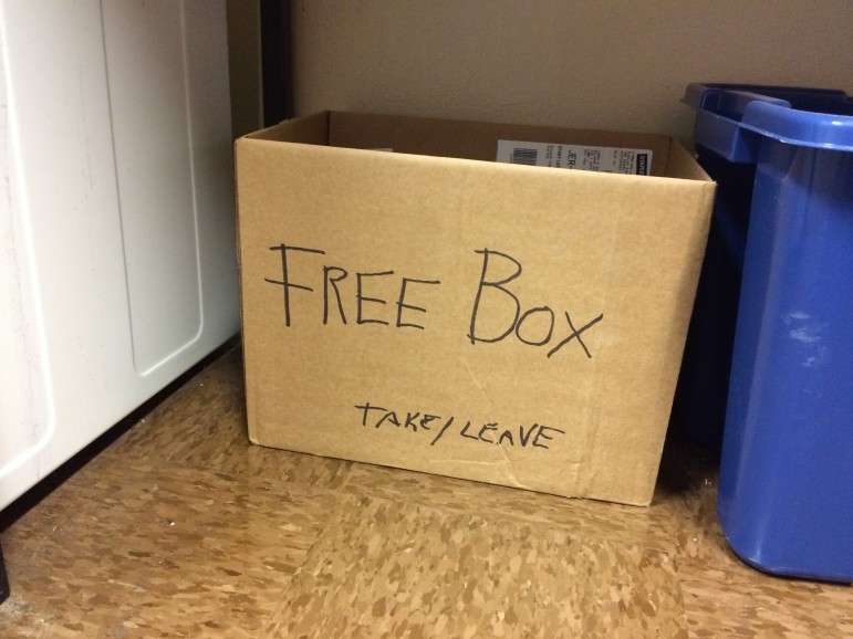 It's simple to set up a Free Box in one's apartment building or wherever people congregate.