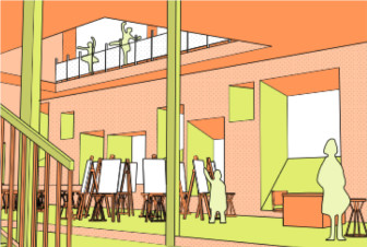 What it might look like inside a school that used a NYCHA development as a living tool for learning.