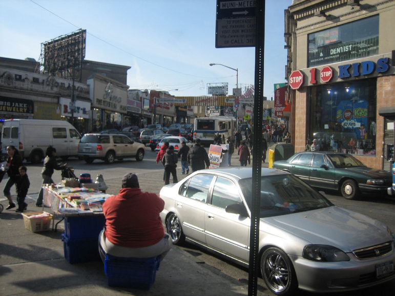 The district around Fordham Road in the West Bronx faced the highest number of housing threats.