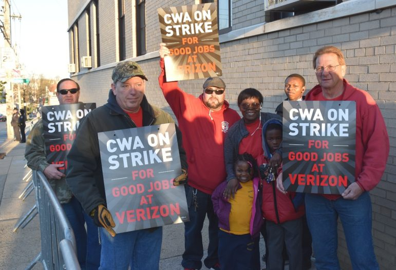 On the picket line.