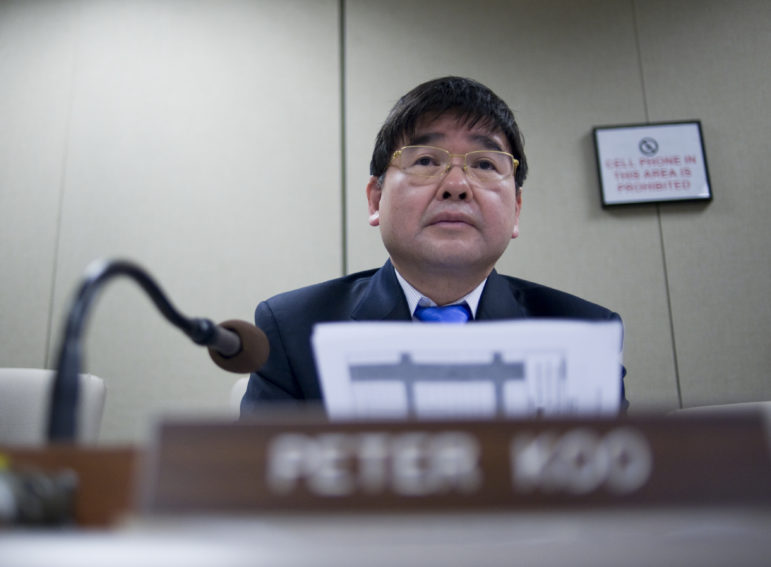 Councilman Peter Koo raised concerns about the rezoning plan that, it turns out, the de Blasio administration shared.