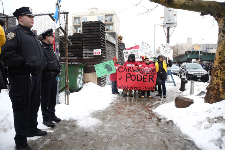 March 2015: Carwasheros protest. The Council and the mayor acted, but a lawsuit has iced efforts to regulate the industry.