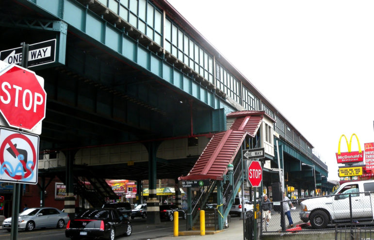 The elevated 4 train is one of the assets that makes the neighborhood attractive to developers. It's also a resource that could be strained by new apartments that bring in nearly 10,000 new residents.