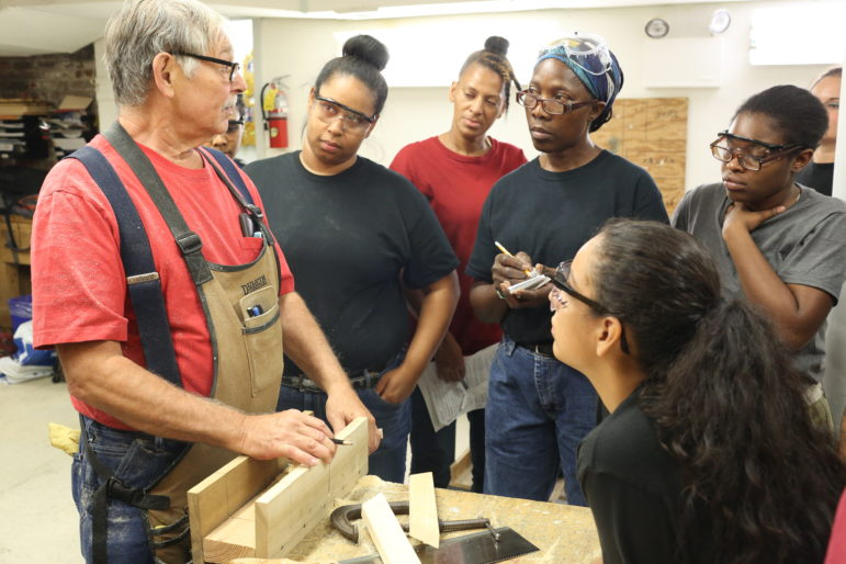 Pre-apprentice training funded through Build it Back at Nontraditional Employment for Women.