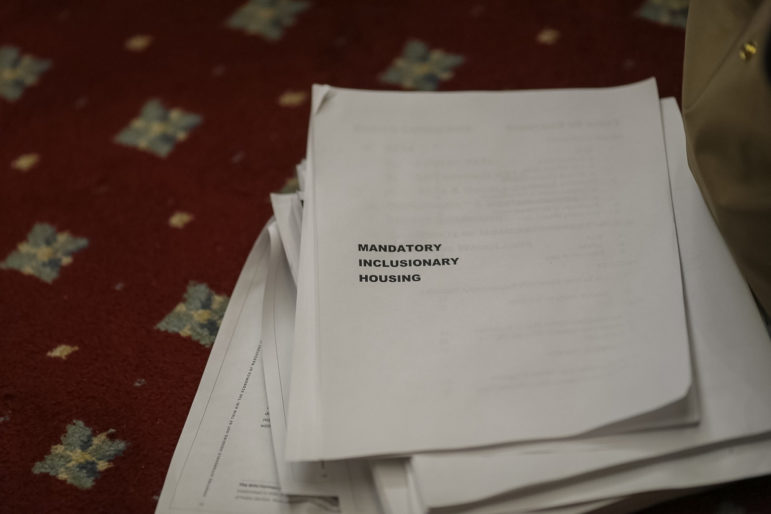 Documents used during the City Council's deliberations over MIH earlier this year.