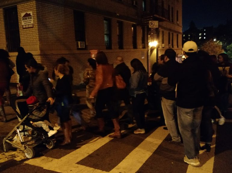 Long lines remained as Election Day neared its end at PS 54 on Webster Avenue.