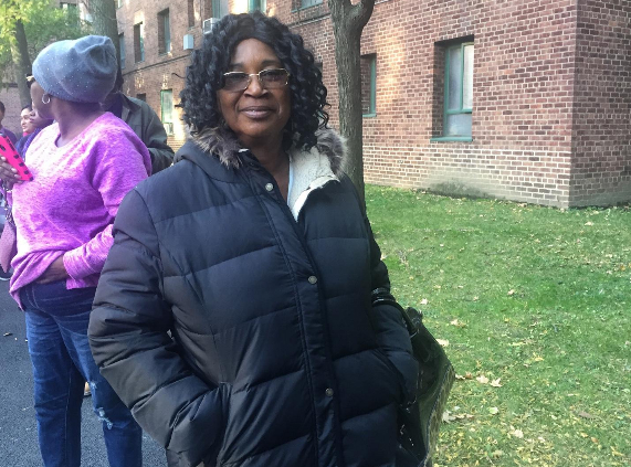 Monica Barimah, 57, is an immigrant from Ghana and voted for the first time this election after receiving citizenship in April.