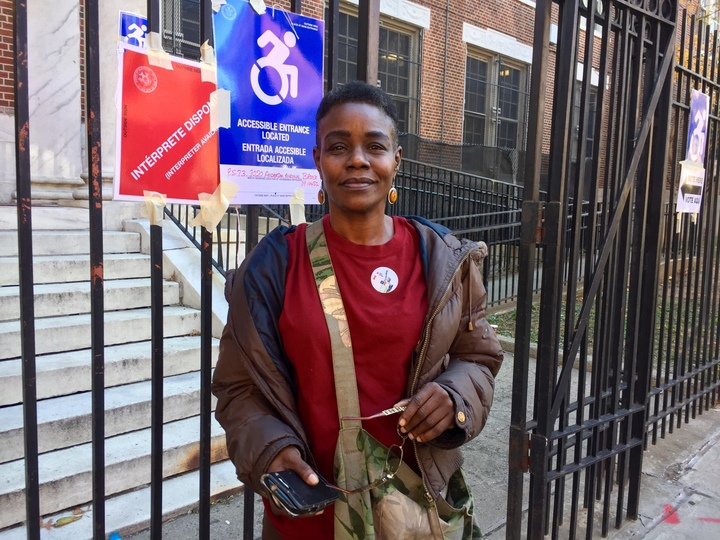 Sindy Jenkins, 49, voted for the first time Tuesday.