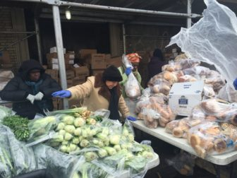 Volunteers at the Word of Life Church's pantry in the Longwood neighborhood of the Bronx need to arrive at the church by 6 a.m. to have everything ready by noon, when the first person in line is served.