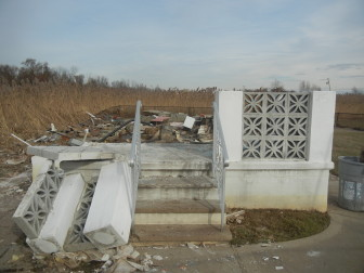 Damage from Superstorm Sandy in the Oakwood Beach area of Staten Island