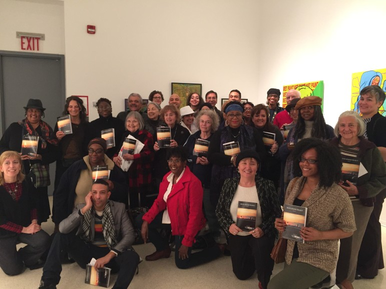 Authors of a volume of Bronx memoirs pose at a recent book launch event. The project challenges stereotypes about the borough.