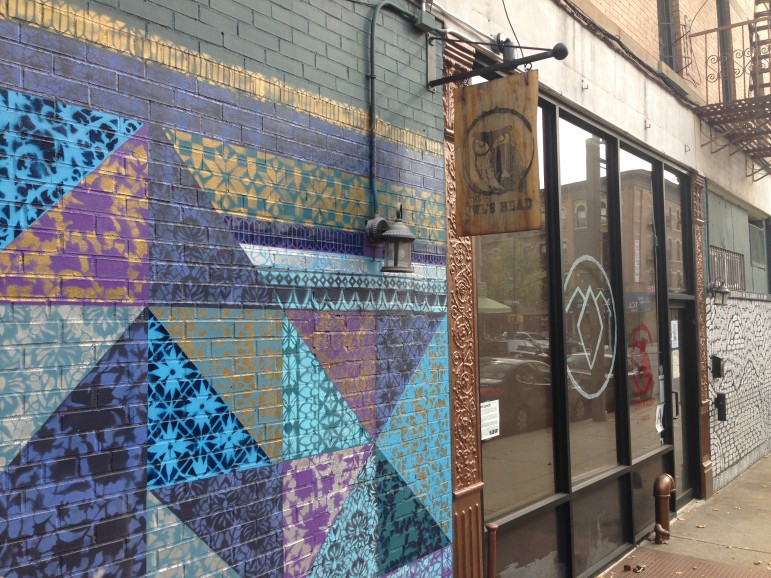 The walls outside the Owl's Head are adorned with murals commissioned by owner John Avelluto. It's nothing novel in the burgeoning Brooklyn art scene, but new to the bar's Bay Ridge neighborhood.