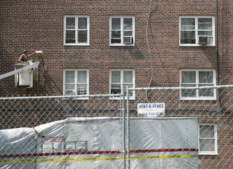 Repairs at the Red Hook Houses.