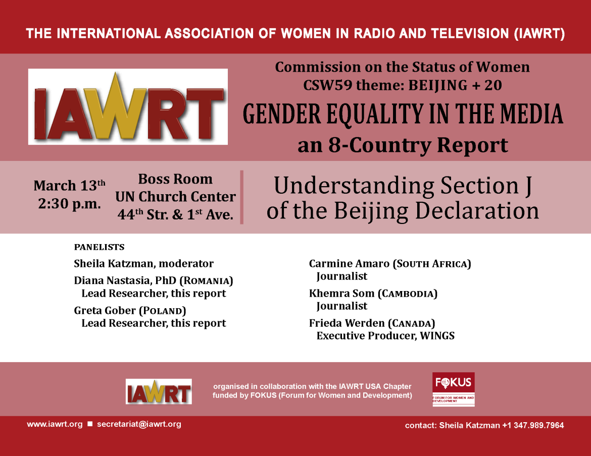 equality in the media sector The study provides analysis of actions to promote gender equality in the media at both eu and member state levels finally, it presents case studies of gender equality in the media sector in four member states: austria, malta, sweden, and the uk.