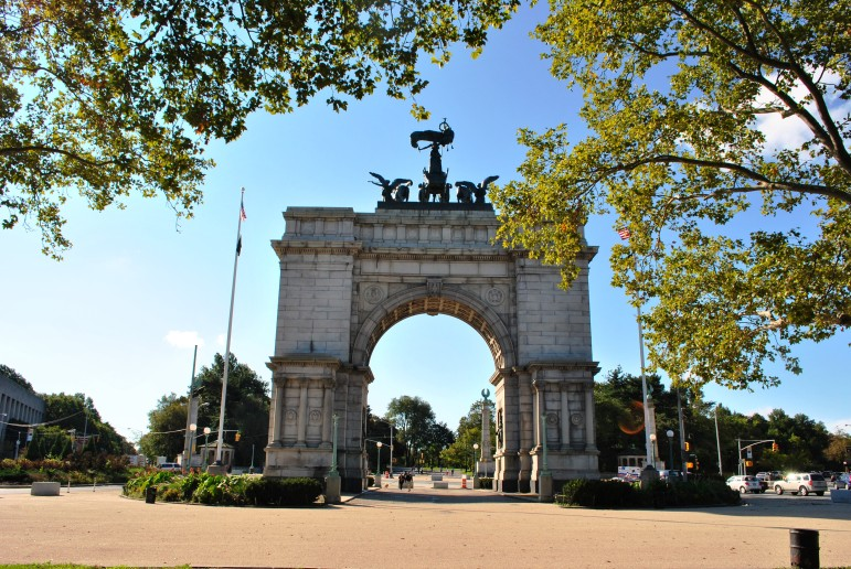 "Grand Army Plaza: A remnant of the days when we called our armies ""grand."""