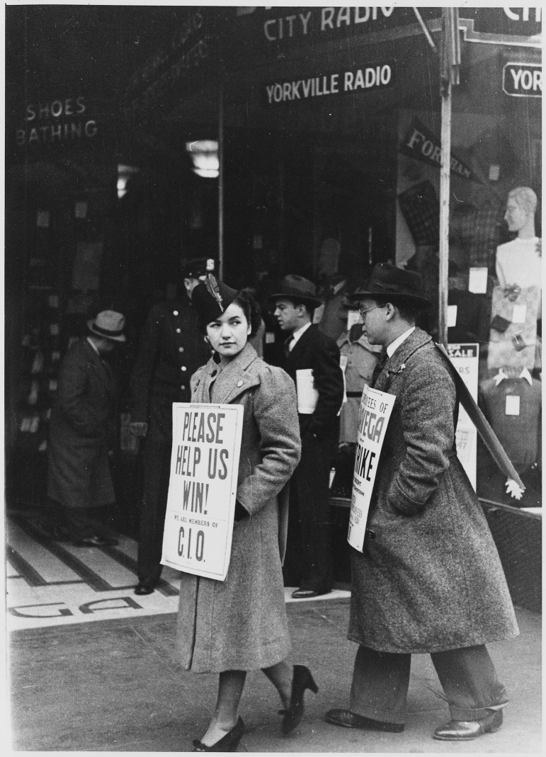 A strike in New York City, 1937