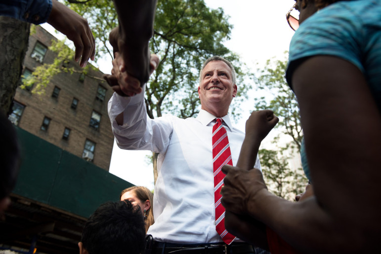 The press has to hold Mayor de Blasio accountable for his promise to address economic injustices like homelessness.  But Mayor Bloomberg made promises about homelessness, too.
