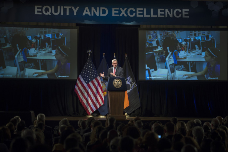 De Blasio had been faulted for not having an overarching schools strategy. Wednesday's speech may have put that concern to rest, although critics will now focus on the content of his proposal.