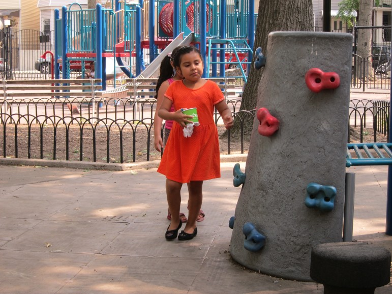 It was a lazy day the last week before school starts at Vincent Ciccarone Playground, on East 188th between Arthur Avenue and Hughes Avenue.