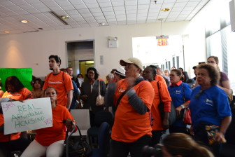 Critics protest the plan, which they believe will fuel displacement in East New York.