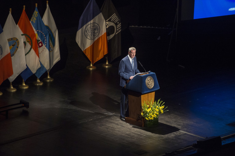 Mayor de Blasio delivers his annual address at Lehman College,