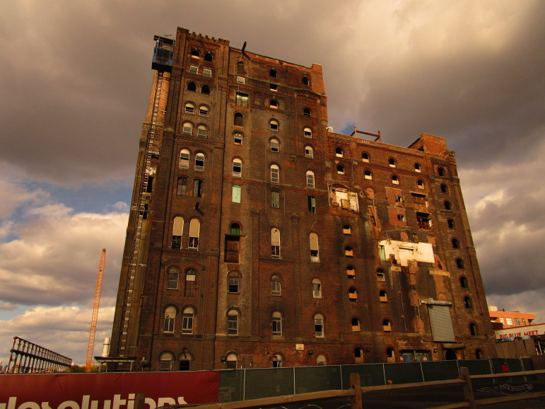 Exterior of the old Domino Sugar Factory as seen last October. While manufacturing in the County of Kings will never regain its old size or shape, it has seen something of a rebound.