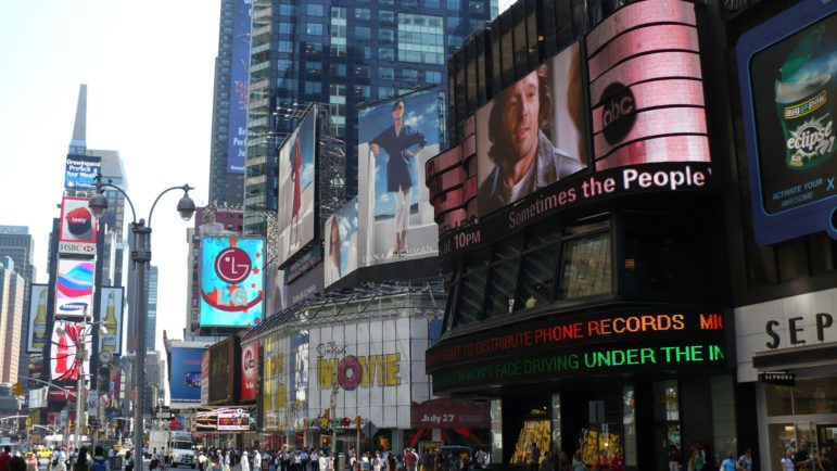 Times Square: crossroads of the world and battleground for different visions of public space.