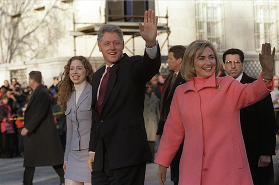 Inauguration Day , 1997. Bill Clinton's legacy is a matter of dispute among Democrats. Did he save it or set it back by moving to the center?