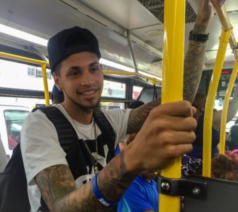 Ricky Rodrigues, 21, a psychology student at CUNY City College, says he takes a bus Bx19 three times a week from his grandmother's place on the Grand Concourse Street to school.