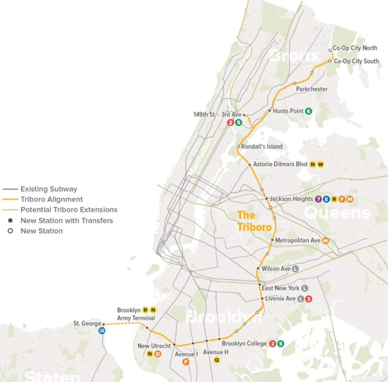 Subway Map Of The Bronx.Call To Study New Transit Line Linking Bronx Queens And Brooklyn