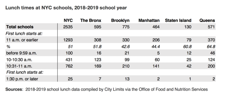 DOE lunch data